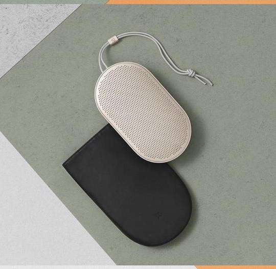 Schutzbeutel / Tasche aus Leder für Beoplay P2 Lautsprecher